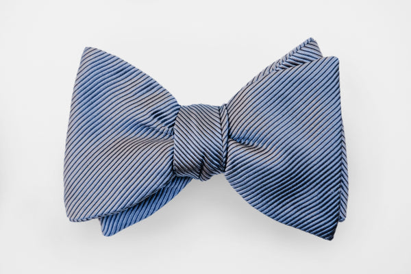 Graphite Grosgrain Solid Bow Tie