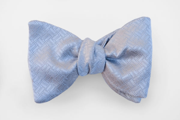 Silver Textured Solid Bow Tie