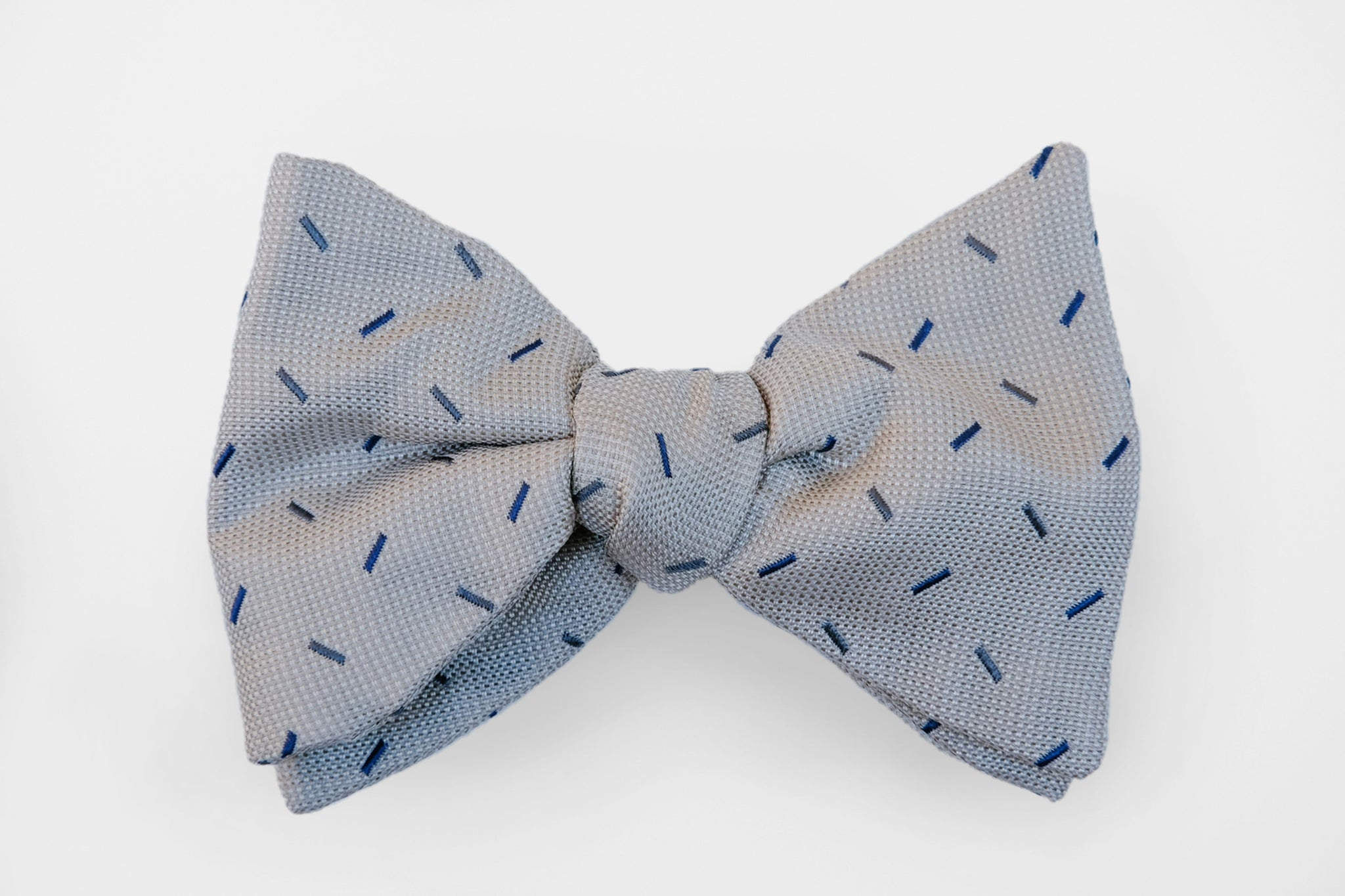Grey/Navy Sprinkle Woven Bow Tie