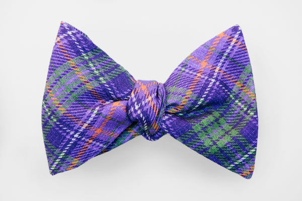 Purples Plaid Bow Tie