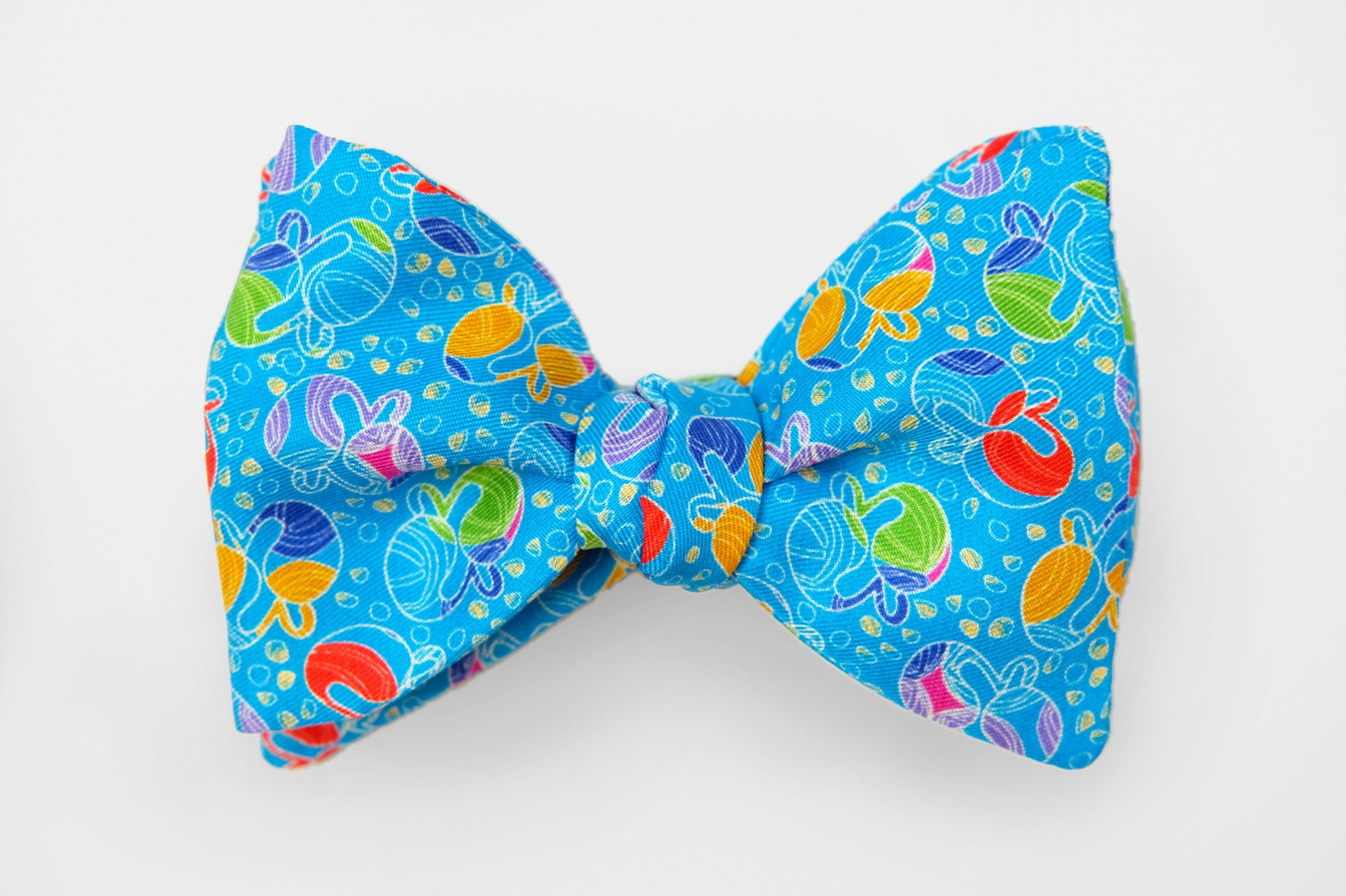 Light Blue with Colorful Whale Print