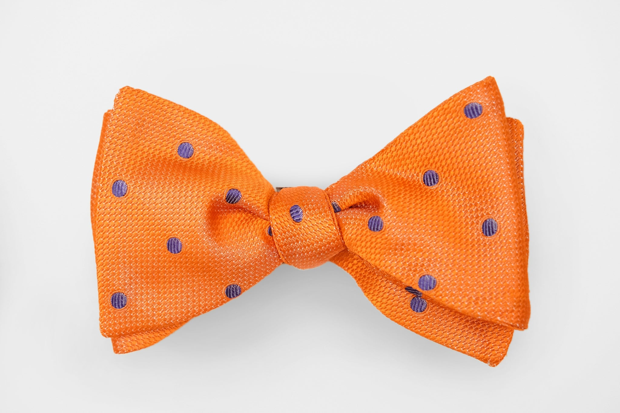 Orange/Purple Dot Bow Tie