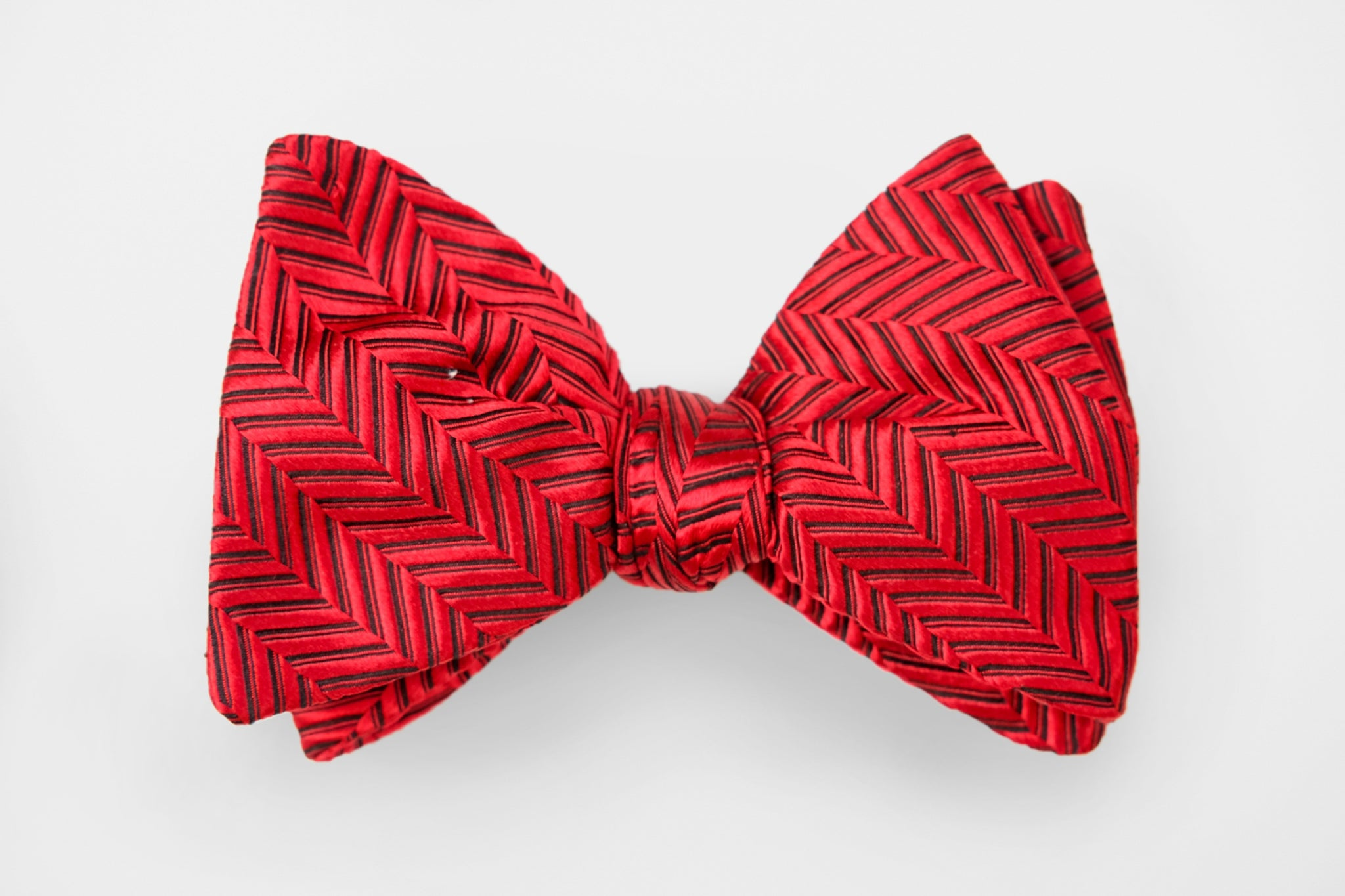 Red/Black Tonal Herringbone Texture