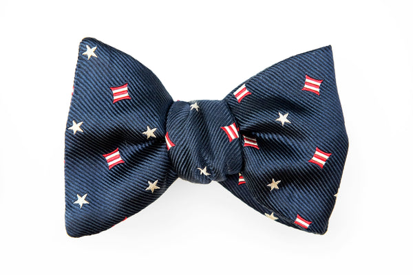 Stars/Stripes Navy Bow Tie