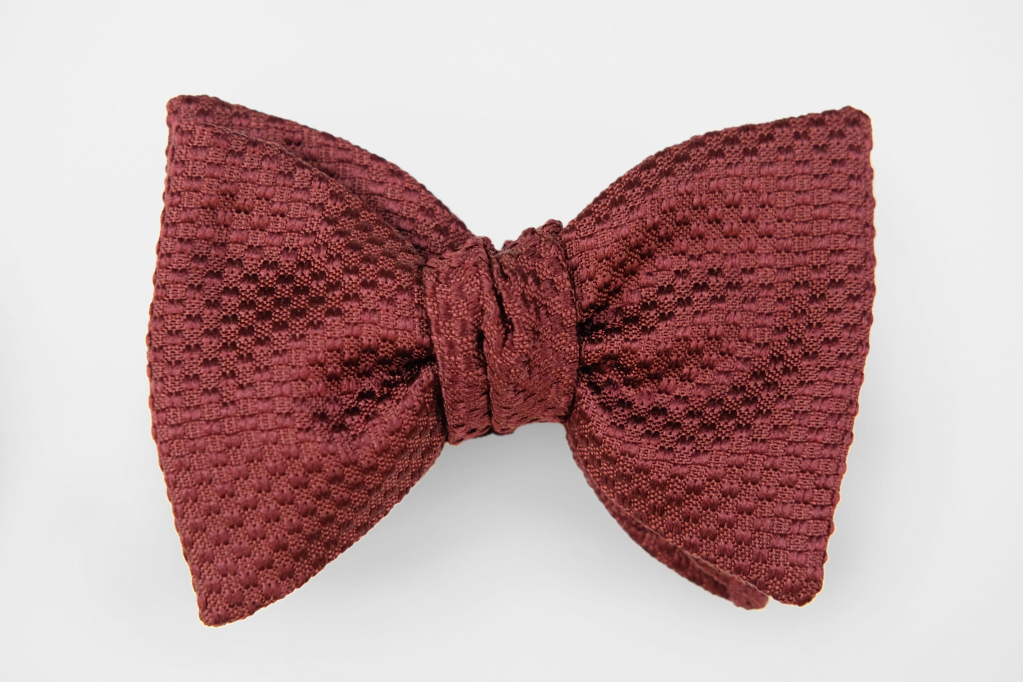 Oxblood Woven Bow Tie