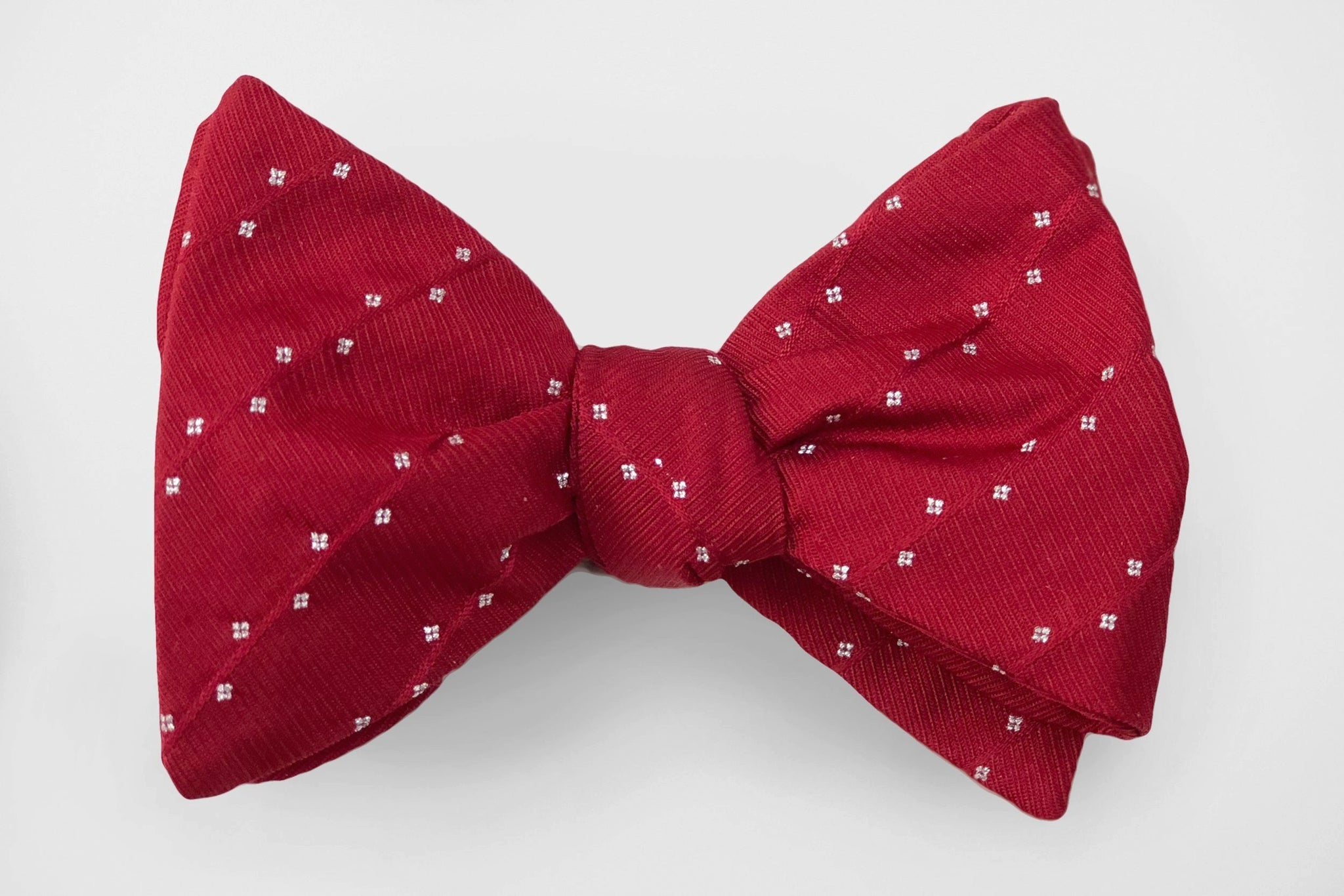 Dark Pink Party Dot Bow Tie