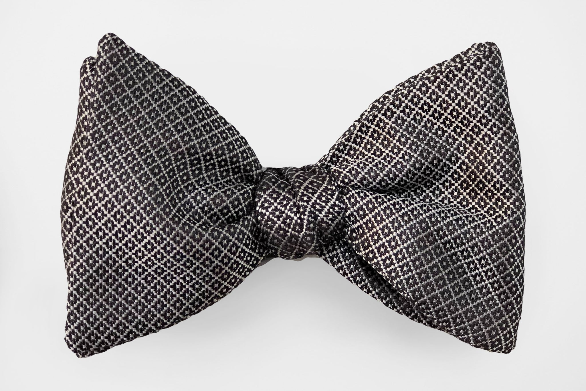 Blue Solid Textured Bow Tie