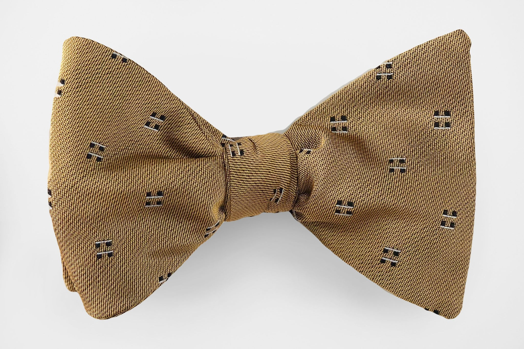 Blue and Brown Plaid Line Blend Bow Tie