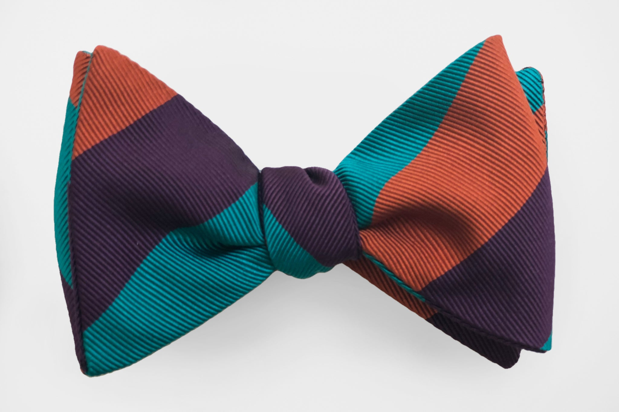 Wide Stripe Mardi Gras Bow Tie