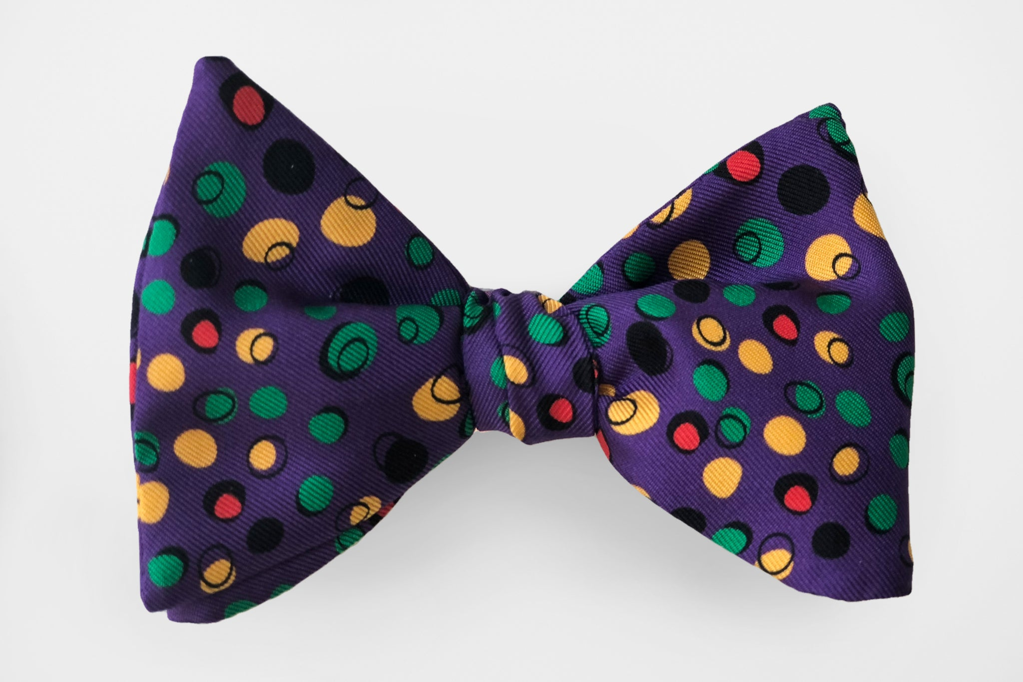 Party Dot Mardi Gras Bow Tie