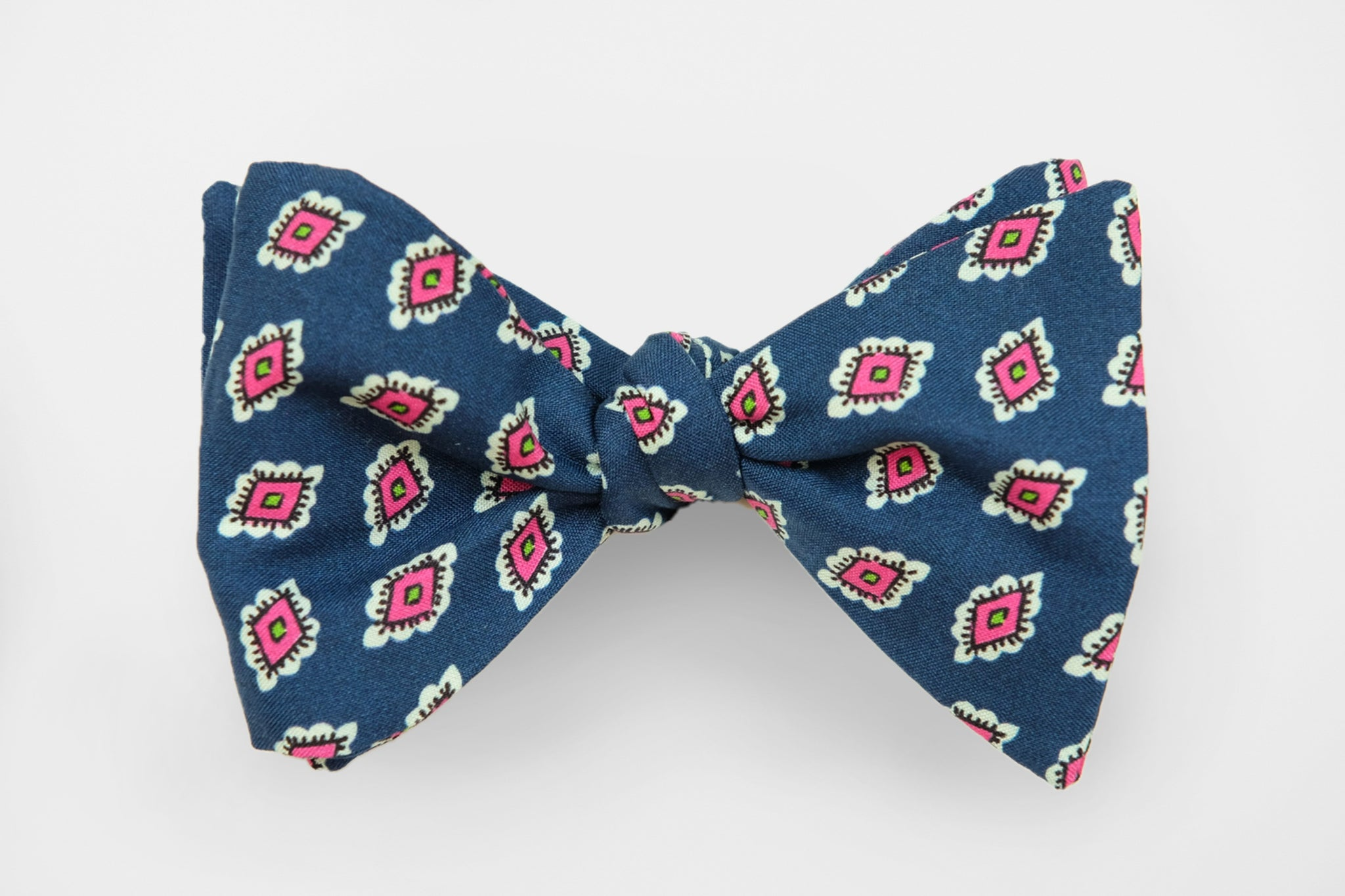 Navy with Pink Flower Neat