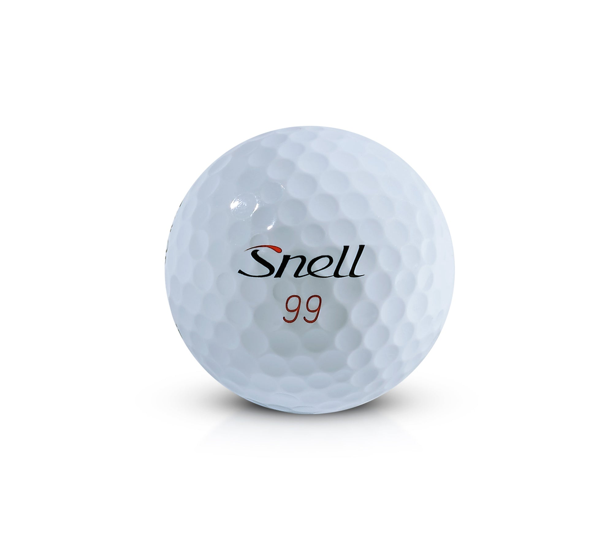 Why are the numbers on golf balls red and black?