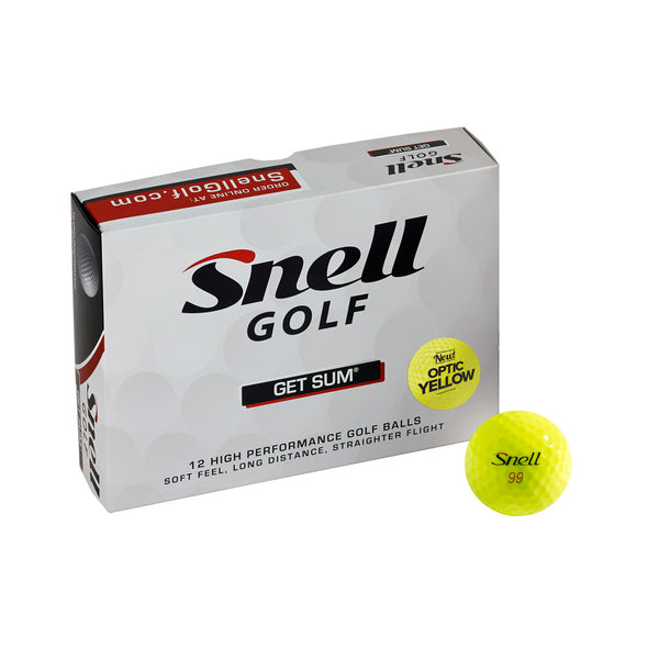 Yellow Get Sum golf balls back in stock!