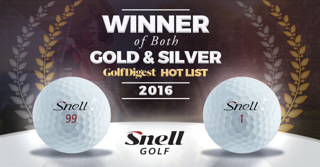 Snell Golf posts 2 winners in the Golf Digest Hot List!