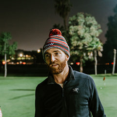 Snell Golf winter beanie with pom pom