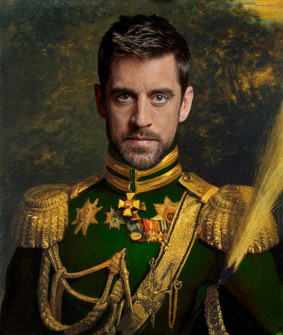 Aaron Rodgers Green Bay Packers Funny Celebrity poster