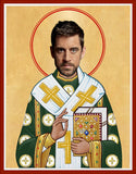 Aaron Rodgers Green Bay Packers Saint Celebrity Prayer Candles Gift