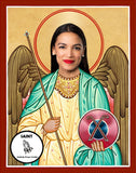 funny Alexandria Ocasio-Cortez AOC celebrity prayer candle novelty gift