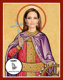 Angelina Jolie Saint Celebrity Pop Culture Prayer Candles