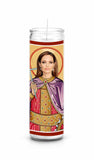 Angelina Jolie Saint Celebrity Pop Culture Prayer Candle