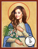 Ariana Grande Saint Celebrity Prayer Candles