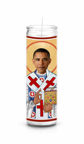 Barack Obama Saint Celebrity Prayer Candle