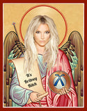 funny Britney Spears saint celebrity prayer candle novelty gift idea