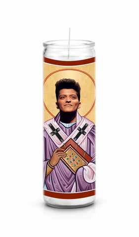 Bruno Mars Saint Celebrity Prayer Candle