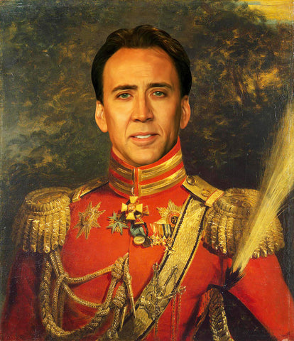 Nicolas Cage Funny Celebrity Poster novelty gift