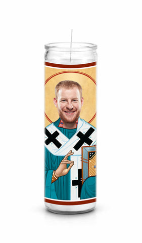 Carson Wentz Philadelphia Eagles Saint Celebrity Prayer Candle