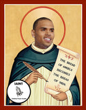Chris Brown Saint Celebrity Prayer Candles