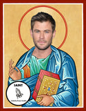 Chris Hemsworth Saint Celebrity Pop Culture Prayer Candles