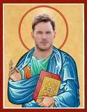funny Chris Pratt saint celebrity prayer candle novelty gift