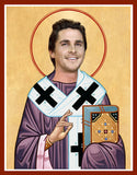 Christian Bale Saint Celebrity Prayer Candle Funny Gift