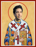 funny David Schwimmer Friends Show celebrity prayer candle novelty gift
