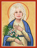 funny Dolly Parton fan saint celebrity prayer candle novelty gift