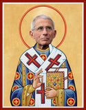 funny Dr Anthony Fauci celebrity prayer candle novelty gift