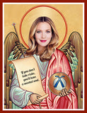 funny Drew Barrymore saint celebrity prayer candle novelty gift