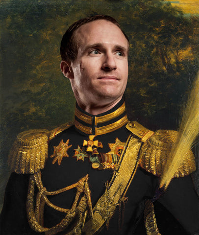 Drew Brees New Orleans Saints Funny Celebrity poster