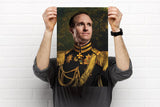 Drew Brees New Orleans Saints Funny Celebrity poster art