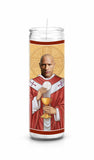 The Rock Dwayne Johnson Saint Celebrity Prayer Candle