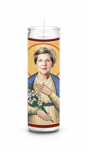 Elizabeth Warren saint celebrity prayer candle