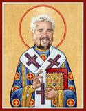 funny Guy Fieri celebrity prayer saint candle novelty gift