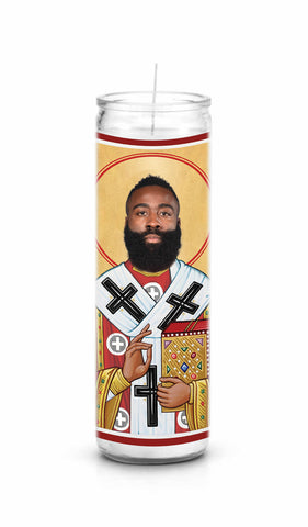 James Harden Houston Rockets Saint Celebrity Pop Culture Prayer Candle
