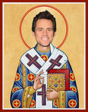 funny Jim Carrey celebrity prayer candle novelty gift