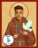 Justin Bieber Saint Celebrity Funny Prayer Candles