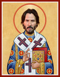 funny Keanu Reeves celebrity prayer candle novelty gift