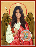 funny kourtney Kardashian celebrity prayer candle novelty gift