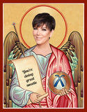 funny Kris Jenner celebrity prayer candle novelty gift