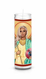 Lady Gaga Saint Celebrity Funny Prayer Candle